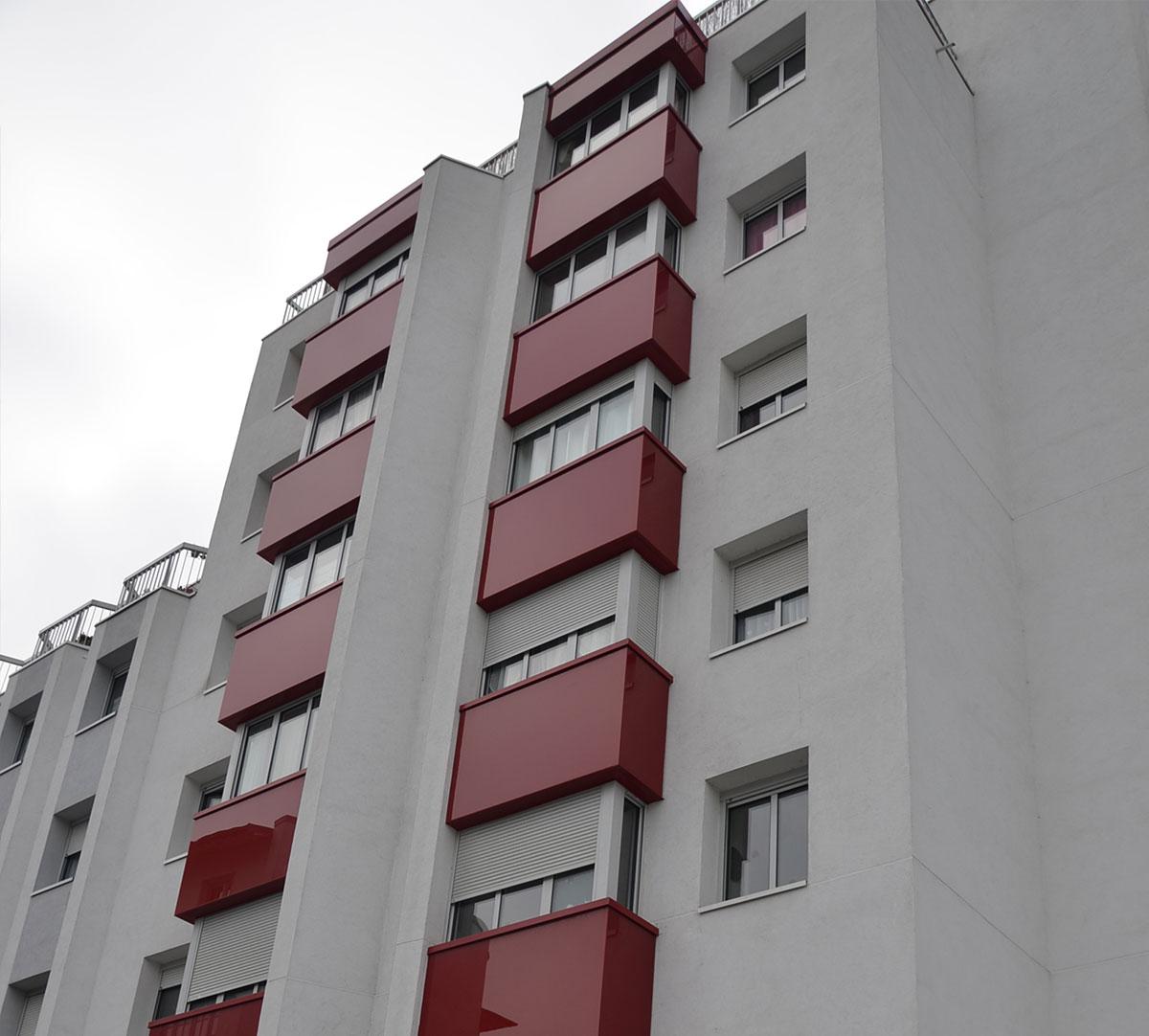 Réalisation Bavettes d'appuis rouge et blanche : image 2