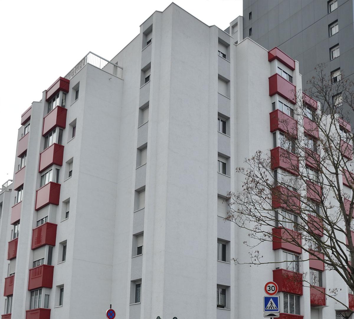 Réalisation Bavettes d'appuis rouge et blanche : image 1