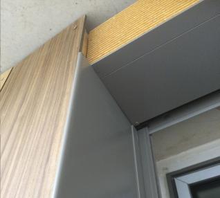 réalisation Encadrement de fenêtres et couvertines d'acrotères sur bardage bois-5-5