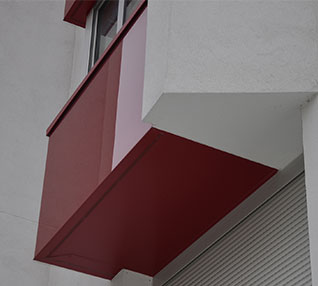 réalisation Bavettes d'appuis rouge et blanche-66-5