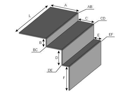 ARSCR - Angle rentrant sans recouvrement pour bardage ARSCR