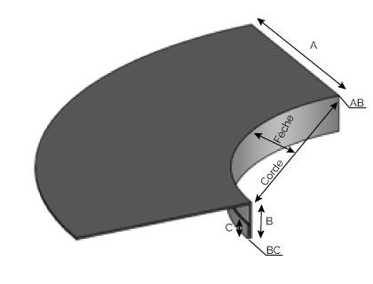 BA100 1 - Bavette cintrée convexe