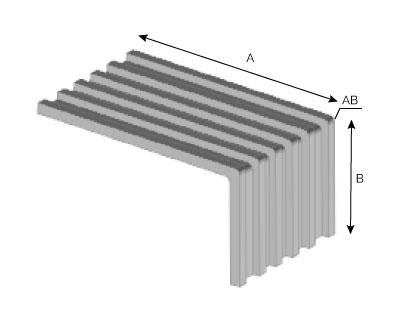 BA34 - Patte simple extrudée