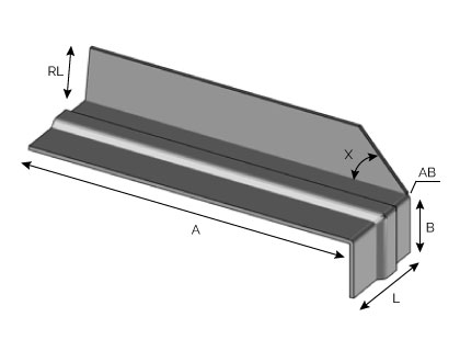 BA41 - Support d'extrémité nervuré