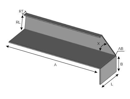 BA42 - Support d'extrémité avec fond de joint