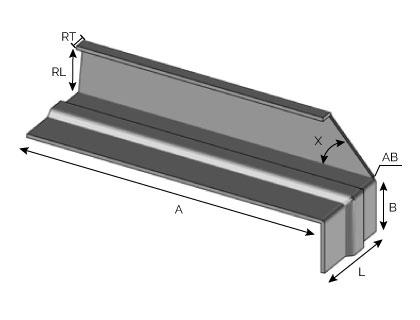BA43 - Support d'extrémité avec fond de joint nervuré