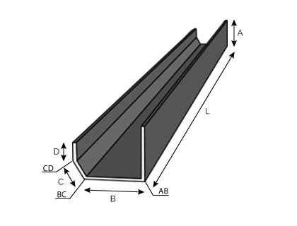 BC11 - Chéneau pour bac acier