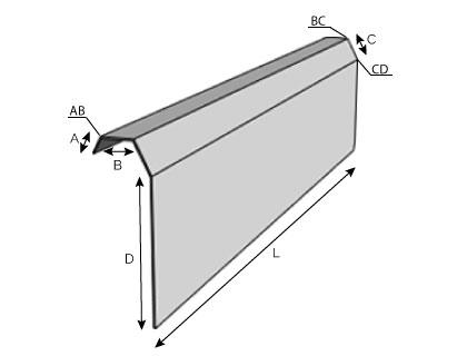 BC12 - Rive de pignon pour bac acier