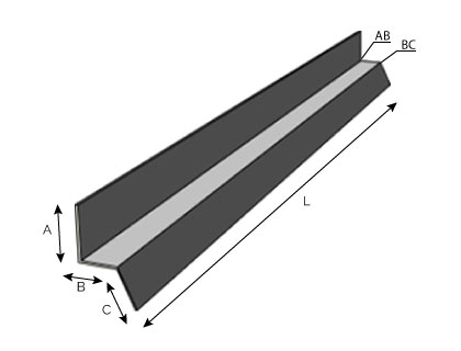 BC13 - Rive de mur pour bac acier
