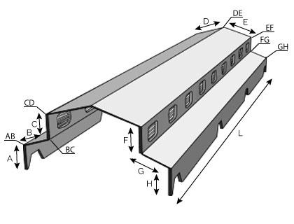 BC15 - Faîtière double ventilée pour bac acier