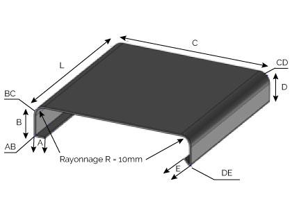 CD09 - Couvertine à plis rayonnés