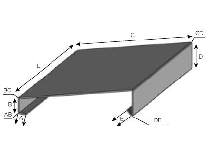 CD11 - Couvertine avec pente à fixation mécanique