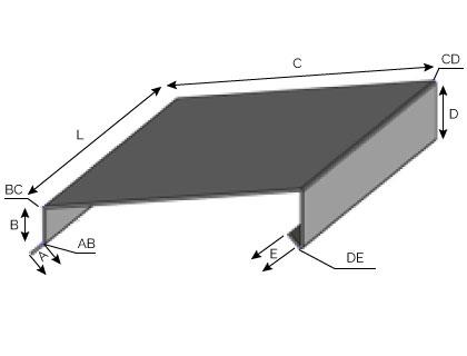 CD12 - Couvertine avec pente à visser
