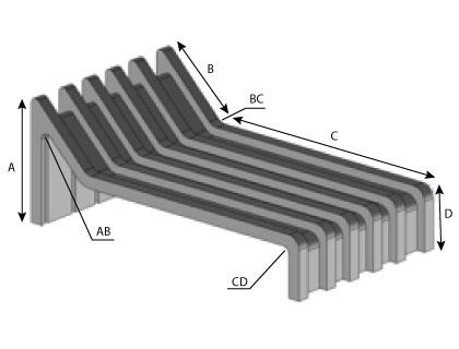 CD161 - Patte avec pente extrudée