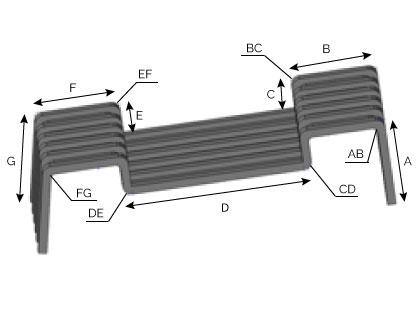 CD181 - Patte réhaussée extrudée