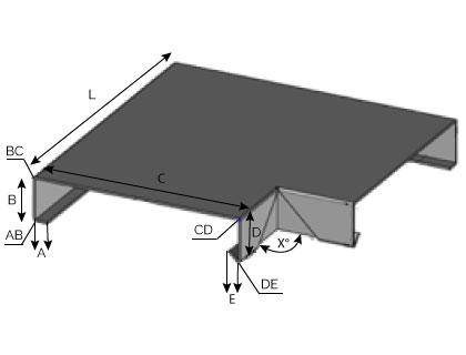 CD20 - Angle rentrant pour couvertine mécanique