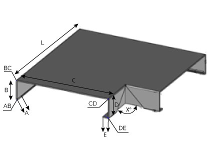 CD21 - Angle sortant pour couvertine mécanique