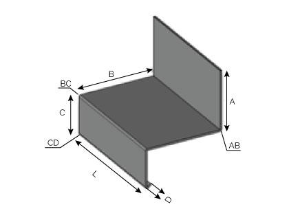 ET15 - Larmier à fixation supérieure