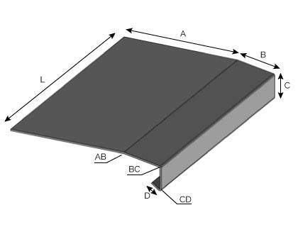 IS51 - Couronnement à double pentes à fixation horizontale