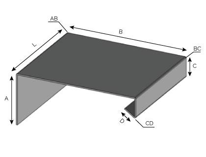 IS53 - Couronnement à pente simple à fixation verticale