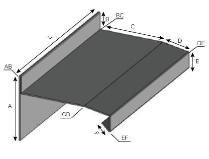 IS54 - Couronnement à double pentes avec arrêt et fixation verticale