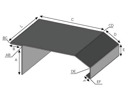 IS55 - Couronnement à double pentes avec arrêt horizontal et fixation verticale