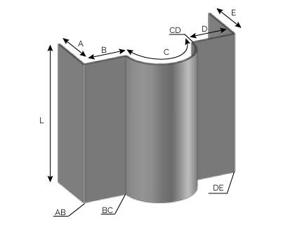 MD20 - Bandeau une onde convexe (sortante)