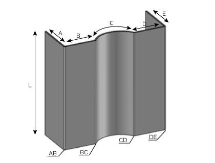 MD22 - Bandeau avec onde concave (rentante)