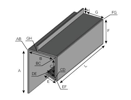 PE01 - Larmier laqué 2 faces avec fond de joint