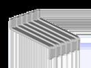 Image du produit : Patte avec relevé extrudée - BA36