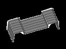 Image du produit : Patte réhaussée extrudée - CD181